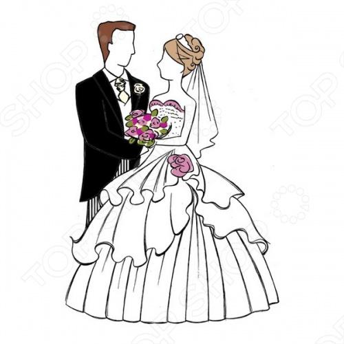 Как нарисовать красивую открытку на свадьбу 6
